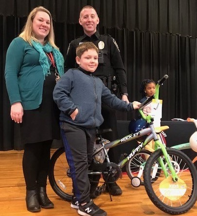Johnston Elementary - Kiwanis bike recipient